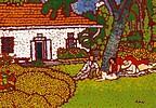 Rippl-Rónai József Piknik a Római-parti villa kertjében című festménye