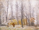 Rippl-Rónai József A Római-parti villa kertje télen című festménye