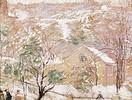 Rippl-Rónai József Tél a Gellérthegy alatt című festménye
