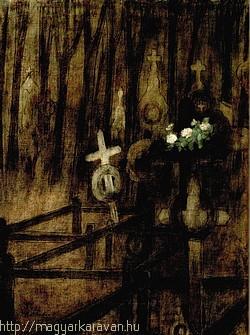 Rippl-Rónai József Temető című festménye